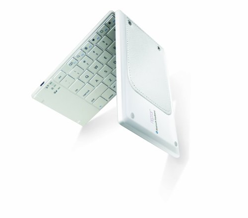 Neptor Kb300B-Wh Portable Foldable Bluetooth Keyboard For Smartphones & Tablets