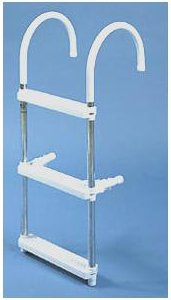 Image of Removable Pontoon Boat Ladder Lightweight With 3 Steps (B00394YLI6)