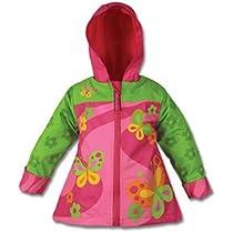 Stephen Joseph Girls Rain Coat, Butterfly, 4T