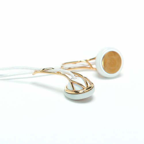Frends Ella G/W Headphone Accessory, Gold And White