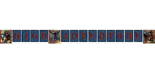 Pirates of the Caribbean 'On Stranger Tides' Happy Birthday Banner (1ct)