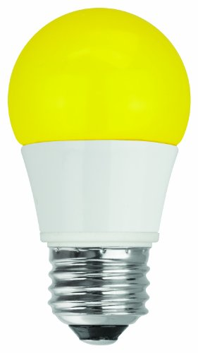 Tcp Rlas155Wy Led A15 - 40 Watt Equivalent (5W) Yellow Colored Light Bulb (Bug Light)