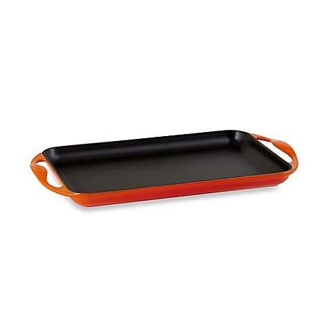 Le Creuset® Rectangular Skinny Griddle in Flame
