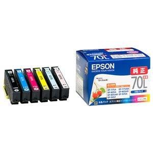 【クリックでお店のこの商品のページへ】エプソン 純正インク IC6CL70L インクカートリッジ 増量6色パック さくらんぼ: パソコン・周辺機器