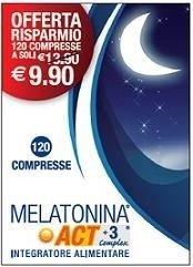Melatonina Act 1 Mg +3 Complex 120 Compresse