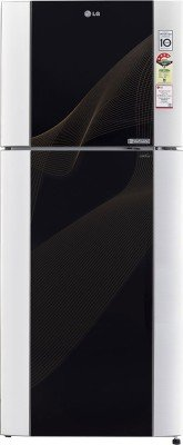 LG GL-M442TKRL Frost-free Double-door Refrigerator (407 Ltrs, 4 Star Rating, Karim Black)