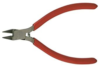 "Xcelite 64CGV Forged Alloy Steel Side Cutting Pliers, Diagonal, Semi-flush Jaw, 4"" Length, 13/32"" Jaw Length, Red Cushion Grip Handle, Carded"