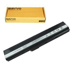 Bavvo Laptop Battery 6-cell for ASUS K52f-sx074v K52JB K52JC K52JE K52JK K52Jr K52jr-a1 K52jr-x2 K52jr-x4