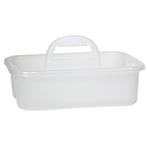 Images for Akro-Mils 09185SCLAR Plastic Tool and Supply Tote Caddy, Clear