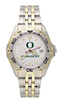 Oregon Ducks Mens All Star Sterling Silver Bracelet Watch