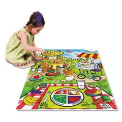 ** Wonderfoam Land Of Nutrition Floor Puzzle, 63 Pieces