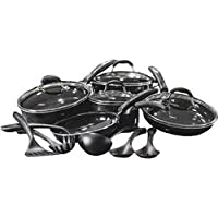 Cuisinart Ceramic-Coated 15-Piece Cookware Set - Black