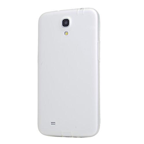 Mavis's Diary Hülle Silikon für SAMSUNG GALAXY MEGA 6,3 ZOLL, I9200 I9205 GT-I9200 Semi Transparent Schutzhülle, Weiß (Siehe Bild)