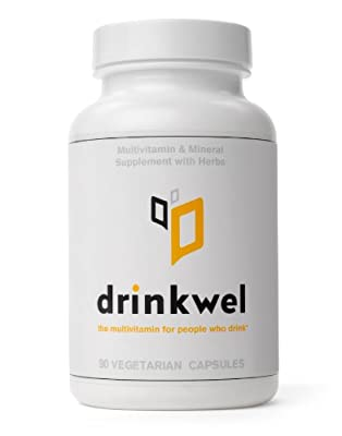 Drinkwel - The Multivitamin for People Who Drink (90 Vegetarian Capsules with Kudzu Flower, Milk Thistle, N-acetyl Cysteine)