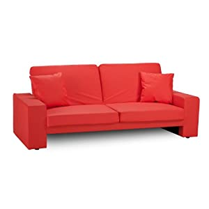 WorldStores Cuba Sofa Bed In Red 2 Seater Sofa Bed Red