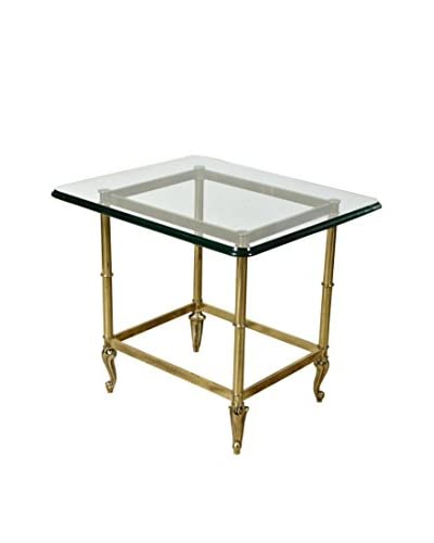 2-B-Modern 1970s LaBarge Glass-Top Side Table, Multi