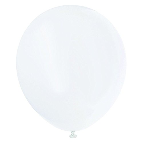 "Sumdirect 12"" Multicolor Led Light Up Balloons (50Pcs, White)"