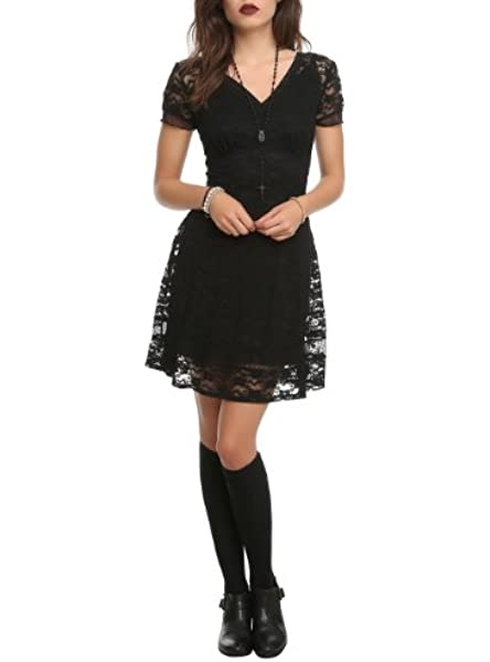 Black Royal Royal Bones Black Lace Dress
