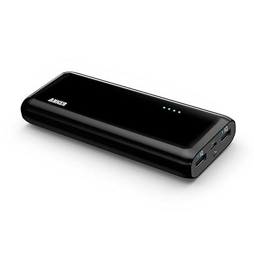 Anker® Astro E5 第2世代 16000mAh モバイルバッテリー iPhone / iPad / iPod / Xperia / Galaxy / Nexus / 3DS / PS Vita / ウォークマン他対応 【PowerIQ搭載】 (ブラック) A1208011