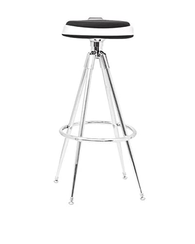 Manhattan Living Sculpt Bar Stool, Black