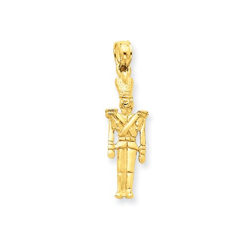14 Karat Gold 3-D Toy Soldier Pendant
