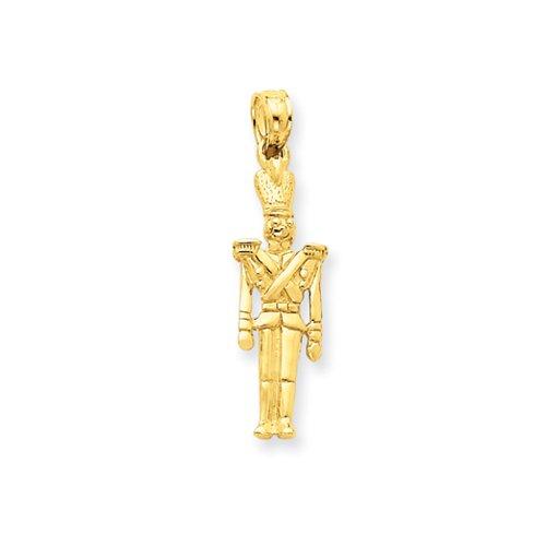 14 Karat Gold 3-D Toy Soldier Pendant