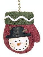 Winter Mittens Ceiling Fan Pull Christmas Snowman