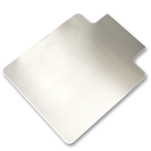 Lorell 45 by 53-Inch Wide Chairmat, Hard Floor, 25 by 12-Inch Lip, Clear