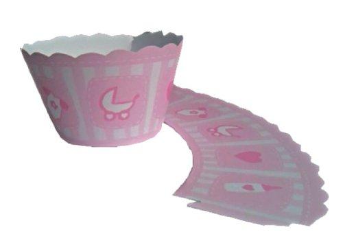 12 Rosa bautizo para cupcakes