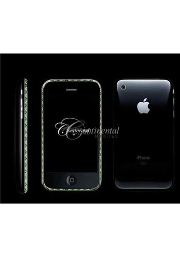 iPhone 3G 16GB Black - Emeralds and Diamonds Luxury Mobile Phone