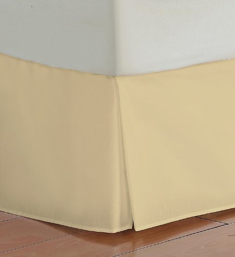 Twin XL Size 500 Thread Count 100% Egyptian cotton 19 Deep Pocket Tailored Bedskirt Solid -Gold Created By Pearl Bedding lacasa bedding 500 tc egyptian cotton fitted sheet italian finish solid king sky blue