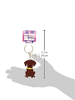 Love Your Breed Acrylic Keychain, Chocolate Lab