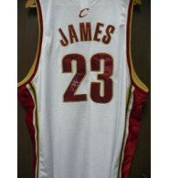 Signed James, Lebron (Cleveland Cavaliers) Reebok Authentic Cavaliers Jersey... by Powers Collectibles