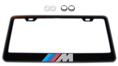 BMW M-Series Black License Plate Frame w/ Screw Covers (Bmw License Plate Frame 3 Series compare prices)