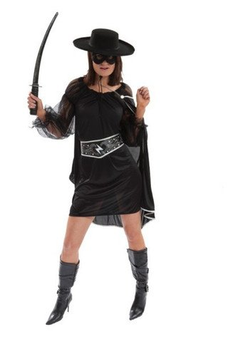 S Sexy Bandit Superhero Villain Fancy Dress Costume Hen Night Halloween