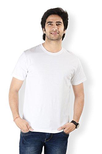 Neevov Men's Cotton T-Shirt (MPRC24S01WT-XL_White)