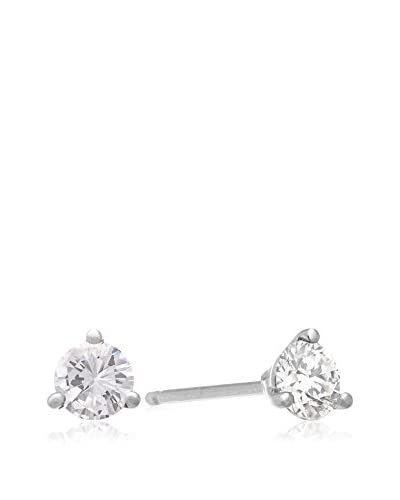 World Gem Lab 1-Ct. Diamond Stud Earrings Martini Set in 14K White Gold
