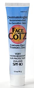 Fallene Face Cotz Water-Resistant Sun Protection UVA/UVB SPF 40, 1.5-Ounce Tube