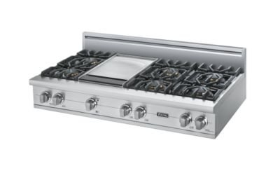 "Viking Vgrt5486Gss - Stainless Steel 48""Custom Sealed Burner Rangetop - Vgrt (48""Wide, Six Burners 12""Wide Griddle/Simmer Plate)"