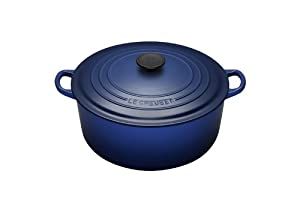 Le Creuset Enameled Cast-Iron 2-Quart Round French Oven, Cobalt Blue