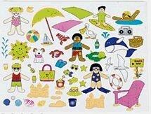 Dozen Design Your Own! A Day At The Beach! Sticker Scenes - 1