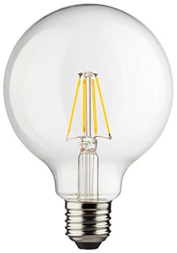 Müller-Licht 400202a + +, lampadina a LED Mini Globe retrò sostituisce 75W, vetro, 8W, E27, colore: bianco, 9,5x 9,5x 14cm