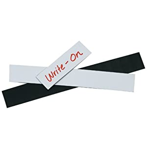"1"" x 2"" White Warehouse Labels - Magnetic Strips, 25 PER CASE"