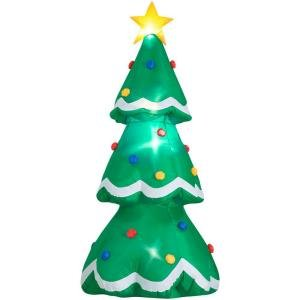 Holiday accents 7ft inflatable christmas tree for Home depot inflatable christmas decorations