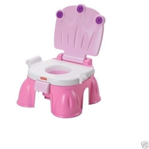 Fisher-Price Pink Princess Royal NEW Baby Step Stool StepStool Potty Training Chair Plays Music Easily Converts to a Step Stool WE DO NOT SHIP TO BUSINESS ADDRESS