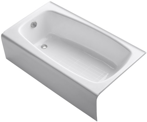 Find Discount KOHLER K-745-0 Seaforth Bath with Left-Hand Drain, White