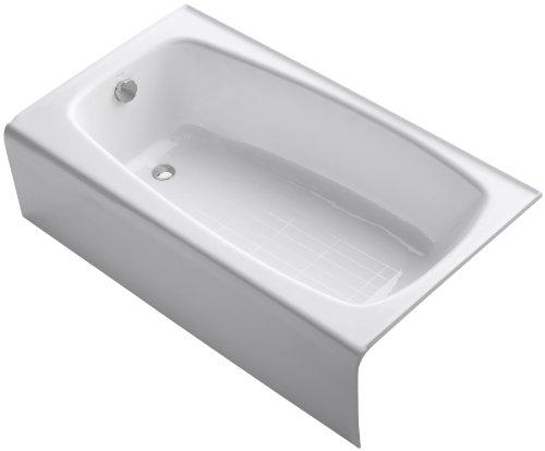 Find Discount KOHLER K-745-0 Seaforth Bath with Left-Hand Drain, White