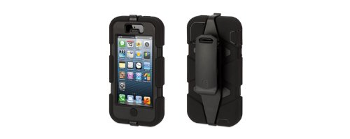 Griffin 605031SVFB Survivor Case for iPhone 5 1 Pack  Retail Packaging  Black Picture