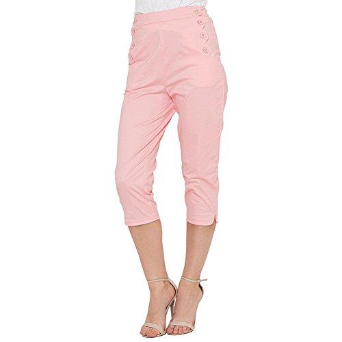 Pantaloni Capri Becky Voodoo Vixen (Rosa) - X-Small
