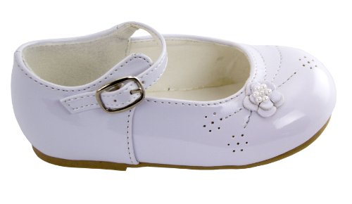 Amanda's Patent Leather Party Shoes Infant/Children's Shoe Size: Infant's 8 Shoe Color: White
